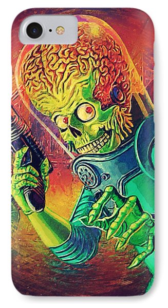 The Martian - Mars Attacks IPhone Case by Taylan Soyturk