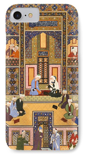 The Meeting Of The Theologians IPhone Case by Abd Allah Musawwir