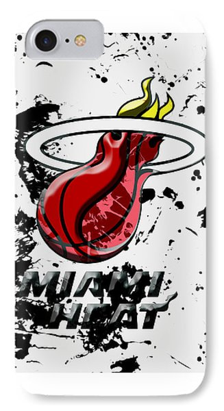 The Miami Heat 1c IPhone Case by Brian Reaves