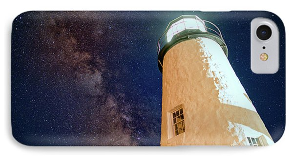 The Milky Way Over Pemaquid Point IPhone Case by Rick Berk