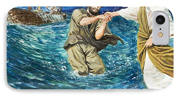 The Miracles Of Jesus Walking On Water  Phone Case by Clive Uptton