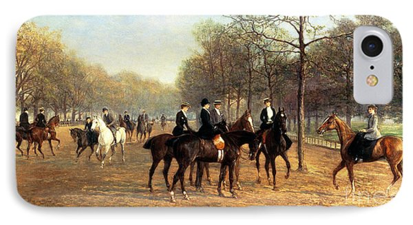 The Morning Ride Rotten Row Hyde Park IPhone 7 Case by Heywood Hardy