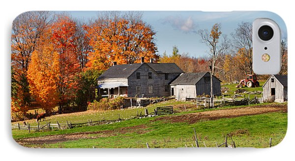 The Old Farm In Autumn Phone Case by Louise Heusinkveld