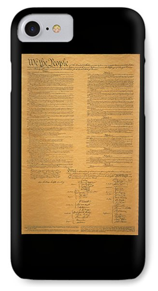 The Original United States Constitution IPhone Case by Panoramic Images