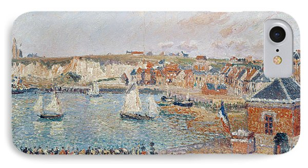 The Outer Harbour At Dieppe IPhone Case by Camille Pissarro