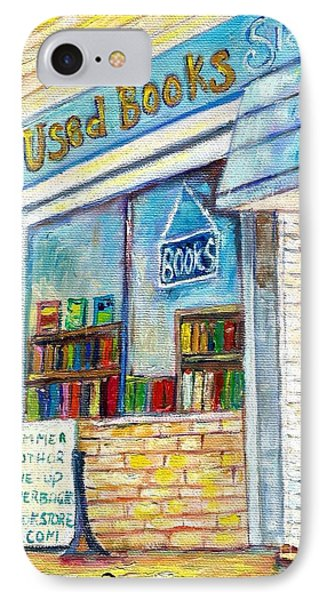 The Paperbacks Plus Book Store St Paul Minnesota IPhone Case by Carole Spandau