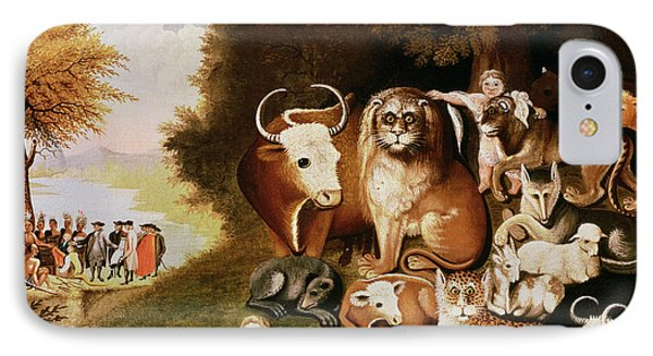 The Peaceable Kingdom IPhone 7 Case by Edward Hicks