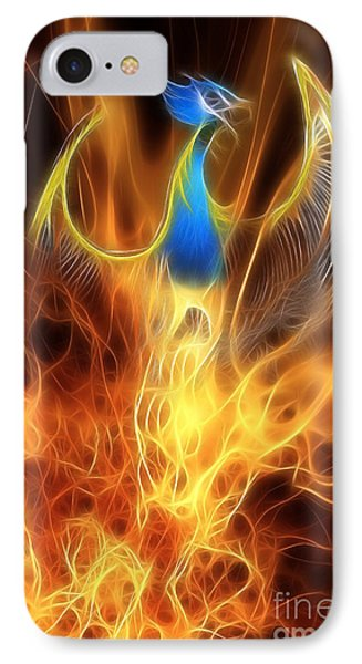 The Phoenix Rises From The Ashes IPhone Case by John Edwards