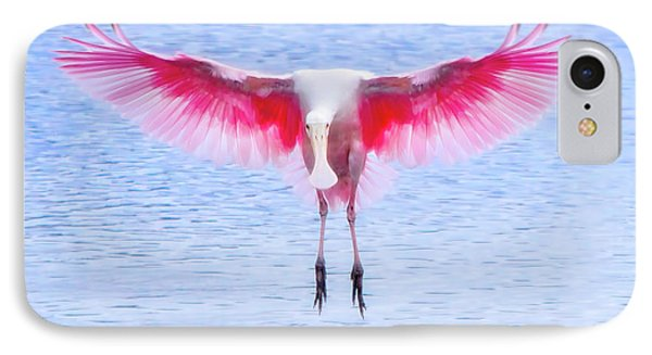 The Pink Angel IPhone 7 Case by Mark Andrew Thomas