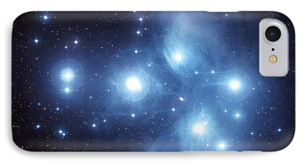 The Pleiades Star Cluster Phone Case by Charles Shahar