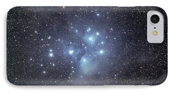 The Pleiades Surrounded By Dust IPhone Case by Phillip Jones