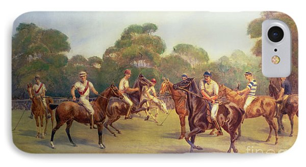 The Polo Match IPhone Case by C M  Gonne