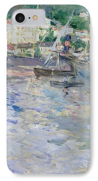 The Port At Nice IPhone Case by Berthe Morisot
