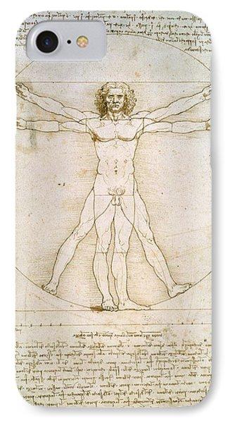 The Proportions Of The Human Figure  Phone Case by Leonardo Da Vinci