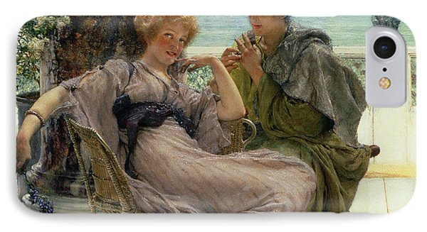 The Proposal Phone Case by Sir Lawrence Alma Tadema