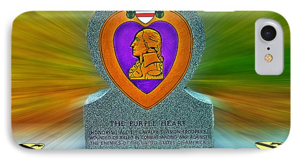 the Purple Heart Phone Case by Francisco Colon