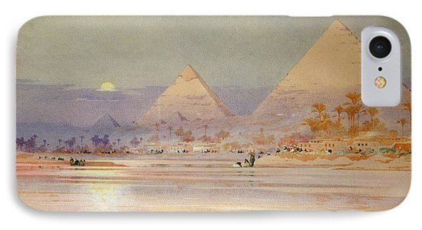 The Pyramids At Dusk IPhone Case by Augustus Osborne Lamplough