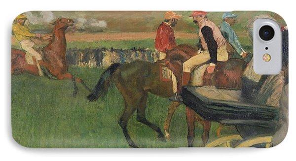 The Race Course Phone Case by Edgar Degas