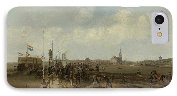 The Race Track At Scheveningen IPhone Case by Charles Rochussen