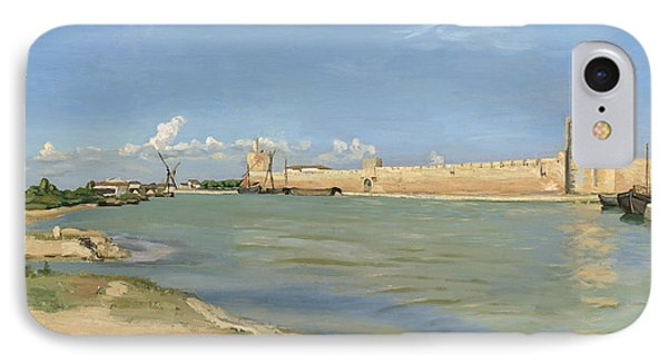 The Ramparts At Aigues Mortes IPhone Case by Jean Frederic Bazille