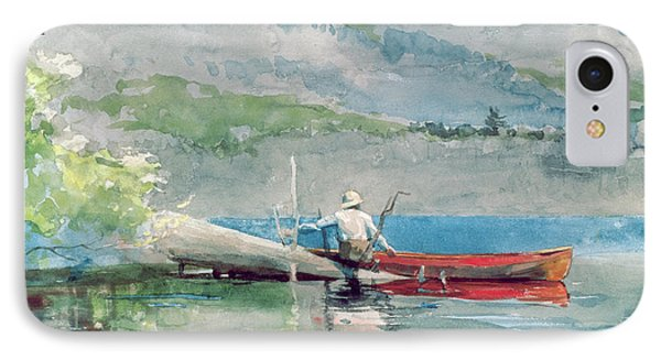 The Red Canoe IPhone Case by Winslow Homer