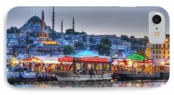 The Riverboats Of Istanbul Phone Case by Michael Garyet
