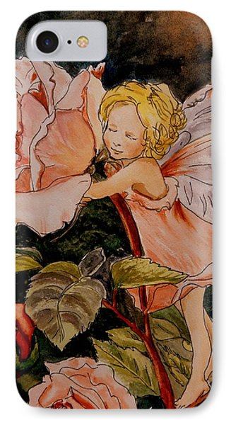 The Rose Fairy After Cicely Mary Barker IPhone Case by Betty-Anne McDonald
