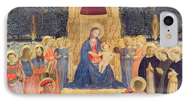 The San Marco Altarpiece IPhone Case by Fra Angelico