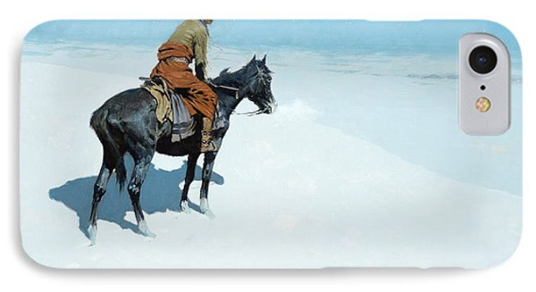 The Scout Friends Or Foes IPhone Case by Frederic Remington