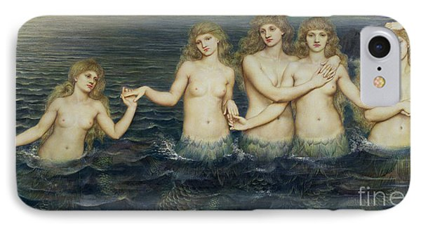 The Sea Maidens IPhone Case by Evelyn De Morgan