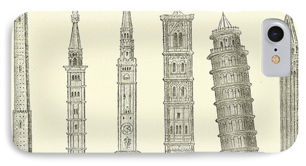 The Seven Great Towers IPhone Case by English School