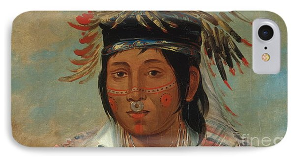 The Six Chief Of The Plains Ojibwa George IPhone Case by Catlin