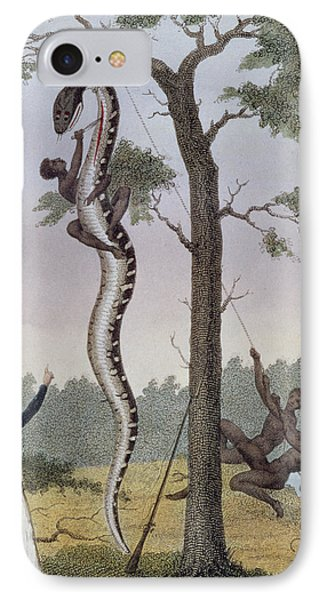 The Skinning Of The Aboma Snake IPhone Case by John Gabriel Stedman