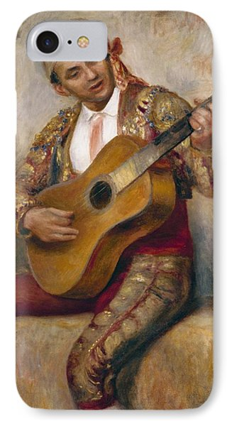 The Spanish Guitarist Phone Case by Pierre Auguste Renoir