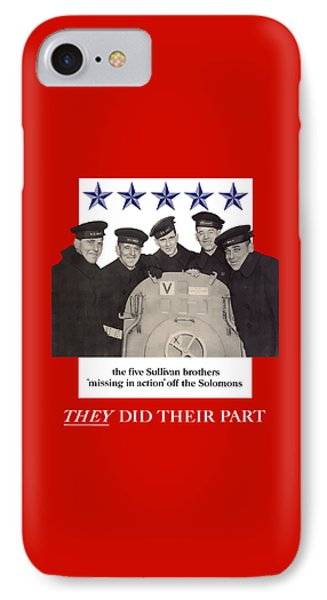The Sullivan Brothers - They Did Their Part IPhone Case by War Is Hell Store