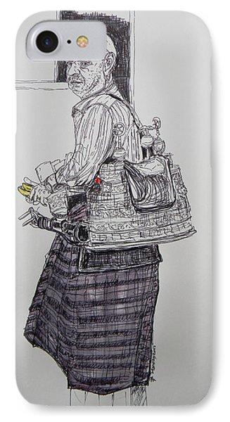 The Tea Man IPhone Case by Marwan George Khoury