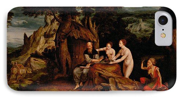 The Temptation Of Saint Anthony  IPhone Case by Cornelis Massys