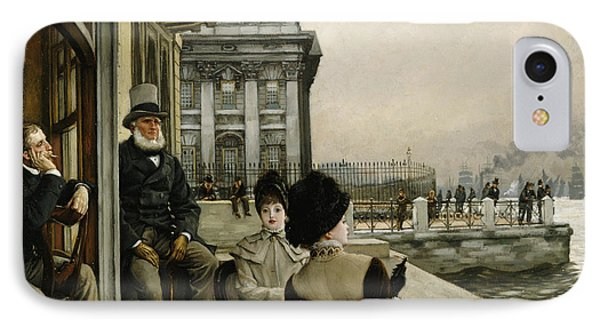 The Terrace Of The Trafalgar Tavern Greenwich Phone Case by James Jacques Joseph Tissot
