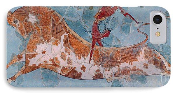 The Toreador Fresco, Knossos Palace, Crete IPhone 7 Case by Greek School