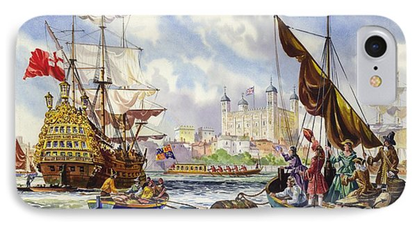 The Tower Of London In The Late 17th Century  IPhone Case by English School