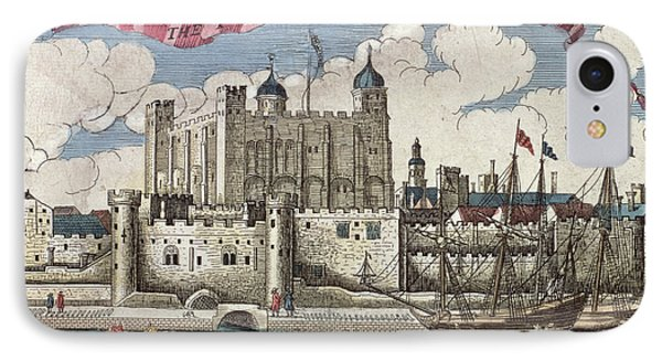 The Tower Of London Seen From The River Thames IPhone Case by English School