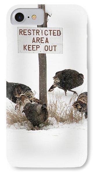 The Turkey Patrol IPhone Case by Mike Dawson