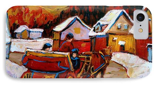 The Village Of Saint Jerome IPhone Case by Carole Spandau