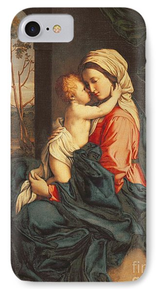 The Virgin And Child Embracing IPhone Case by Giovanni Battista Salvi