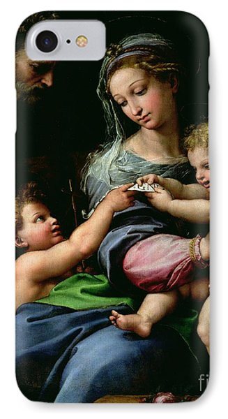 The Virgin Of The Rose Phone Case by Raphael