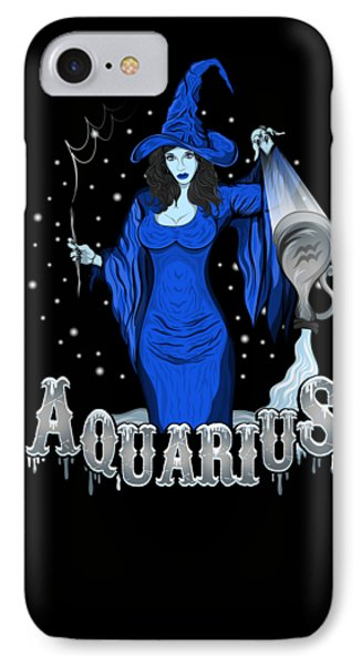 IPhone Case featuring the drawing The Water Bearer - Aquarius Spirit by Raphael Lopez