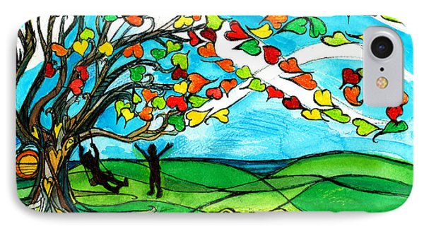 The Windy Tree IPhone Case by Genevieve Esson