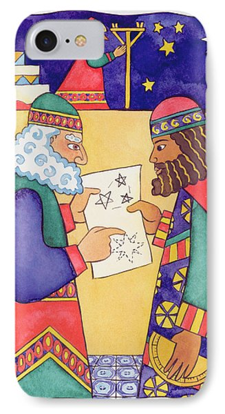 The Wise Men Looking For The Star Of Bethlehem IPhone Case by Cathy Baxter