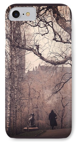 The Woman In Black IPhone Case by Carol Japp