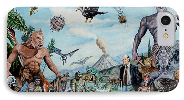 The World Of Ray Harryhausen IPhone Case by Tony Banos